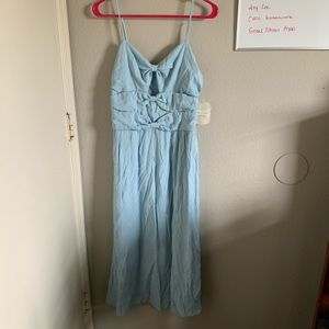 Altar'd State Baby Blue Bow Dress